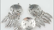 Antique  Silver Large Buttons/ Charms/ 3 Pcs