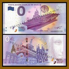 Zero 0 Euro Souvenir, 2017 Aircraft Carrier Charles de Gaulle Unc