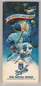 1981 Kansas City Royals Baseball Media Guide George Brett 1980 World Series ALCS