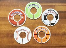 Set Of Five Sports Themed Nursery Closet Dividers