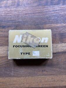 Nikon Focusing Screen Type L New In Package