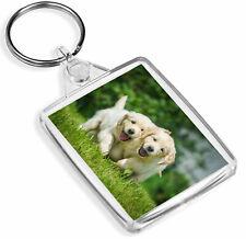 1 x Golden Retriever Puppy Dog Family - Keyring- IP02 - Mum Dad Kids Gift#2323