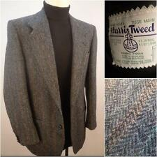 Harris Tweed Men's Sport Coat Mens Blue Classic Wool Scottish Twill Size 40 R