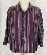 Apt 9 Women 3/4 Sleeve Business Work Shirt Size PM Medium Petite EUC