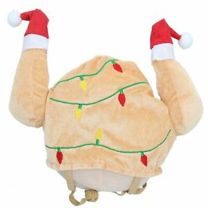 Dog Christmas Humorous Gift Turkey Novelty Dress Up Hat With Adjustable Tab