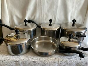 Farberware set of pot and pans S.Steel 6 + 5 lids