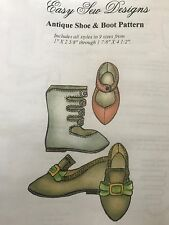 French Fashion Doll Bebe Bru Jumeau doll Antique Shoes Boots pattern 9 dif sizes