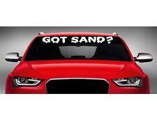 "40"" Got Sand? Car Decal Sticker Windshield Banner ATV MX Motocross Dirtbike Quad"