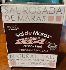 Peruvian Pink Gourmet Salt from Maras, Cusco 100% Natural Peru 600gr/21oz