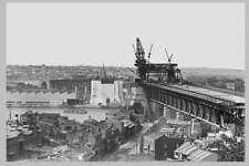 SYDNEY Harbour Bridge Construct South 2nd aerial c1920s modern digital Postcard