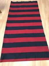 """Pottery Barn Teen Color Block Stripe Shower Curtain Navy Blue Red 72"""" x 72"""""""