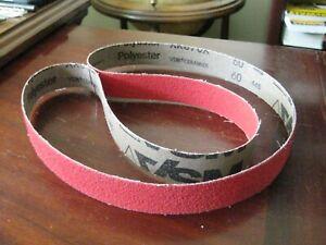 2 Width Pack of 10 Medium Grade 36 Length VSM 136824 Abrasive Belt Aluminum Oxide 100 Grit Brown Cloth Backing