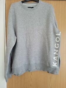 Kangol Mens Crew Neck Jumper Size XXL, Grey