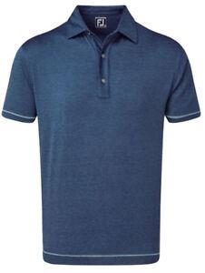 New With Tags Footjoy Lisle Spacedye Microstripe Polo Shirt Deep Blue Size XXL