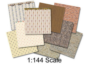 1:144 Scale Dollhouse - Wee Little Wallpapers 1, Dollhouse or Dutch Baby Scale