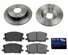 Rear Ceramic Brake Pad Set & Rotor Kit for 2003-2006 Nissan Sentra 4W DISC