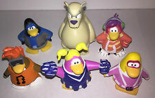 6 CLUB PENGUIN DISNEY VINYL TOY FIGURES 5-8 cm