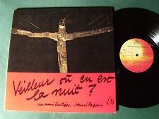 JEAN-MARIE LUSTIGER & HENRY PAGET: Veilleur ou en est la nuit? LP rare SEL 30021