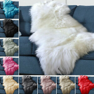 Hairy Shaggy Sheepskin Rug Sofa Bed Chair Throw Fluffy Carpet Sofa Chair Bedside