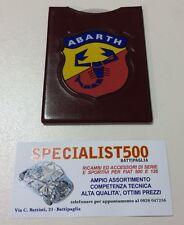 FIAT 500 DISCO ORARIO LOGO ABARTH SCUDETTO E SCRITTA