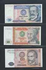 Pérou  Lot de 3 billets différents  en état NEUF Lot Numéro 1