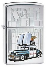 Zippo 28507 1947 Saratoga Car High Polish Chrome Finish Full Size Lighter