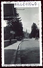 Lourdes . Pont St-Michel et Basilique . photo ancienne . Juin 1946