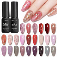 LILYCUTE 7ml Glitter UV Gel Nail Polish Soak Off Nail Art Varnish Decoration DIY