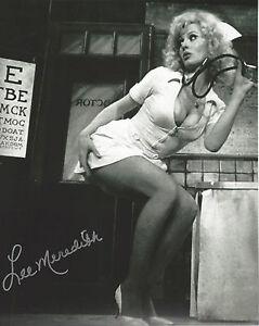 Sexy Playboy model & Actress Lee Meredith autographed 8x10 photo bonus pic