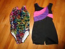 2 Girls Leotard Gymnastics 1 Piece Outfits Size 7/8