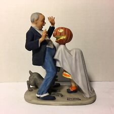 The 12 Norman Rockwell Porcelain Figurines Trick Or Treat 1980 Danbury Mint