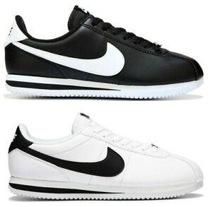 New Nike Cortez Retro Classic Men's Casual Sneaker black triple white all sizes