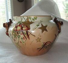 Sevres Limoge Art Deco Hand Painted Porcelain Vase Wine Cooler Jardiniere 1920's