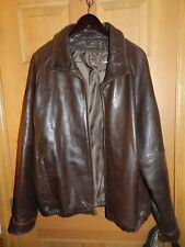 Wilson Leather Mens Coat Jacket RN 69426 Size XL Brown