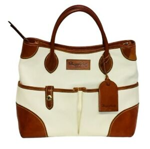 Dooney & Bourke Aubrey Pebble Leather Satchel Bone Color NWT