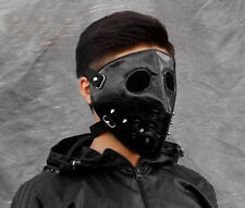 Mens Punk Biker Leather Full-face Mask Masquerade Black Cosplay MB03