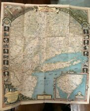 Reaches of New York City Folded Map - National Geographic Magazine April 1939