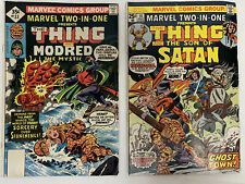 Vintage 1970s Lot Of The 2 Marvel Comic Books THE THING No. 14 And 33