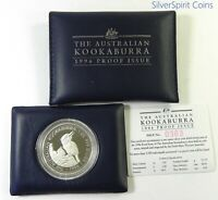 1996 KOOKABURRA PROOF 1oz Silver Coin in Wallet