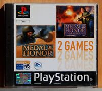MEDAL OF HONOR & MEDAL OF HONOR UNDERGROUND - PLAYSTATION 1 PAL ESPAÑA COMPLETO