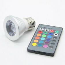LED RGB Magic Spot Light Bulb Lamp 100-240V 3W E27 Wireless IR Remote Control