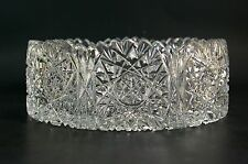 Beautiful Vintage Cut Crystal Glass Accent Bowl Artist Signed