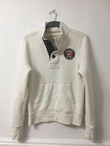 Hollister Mens White Cotton/Polyester Collar Long Sleeve Blouse M(D305)
