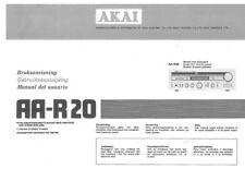 Akai AA-R20 Tuner Owners Instruction Manual