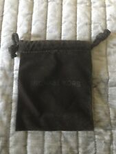 Michael Kors Authentic Velvet Drawstring Jewelry Pouch Brown Gift Bag