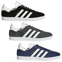 adidas ORIGINALS GAZELLES TRAINERS BLACK BLUE GREY SNEAKERS SHOES RETRO FOOTBALL