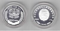 SOUTH KOREA - SILVER PROOF 500 WON COIN 1995 YEAR FAO