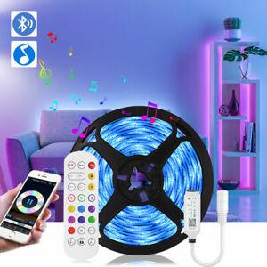 16.4ft RGB LED Strip Lights Music Sync Bluetooth Remote Room TV Back Lights Kits
