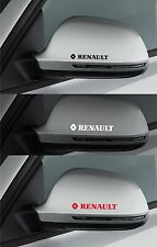 For RENAULT - 2 x Side Wing Mirror VINYL CAR DECAL STICKERS  CLIO 100mm long