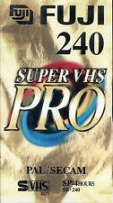 SUPER VHS VIDEO CASSETTE TAPE FUJI SE-240 BRAND NEW SEALED  1 piece